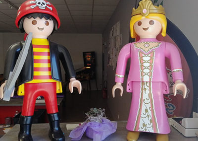 Couple playmobil géant